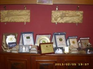 مجموعة أخرى من الشهادات والجوائز
